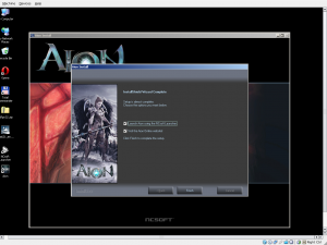 Aion installation on XP in Virtualbox 3.0.6