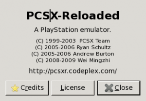 PCSX-Reloaded about screen