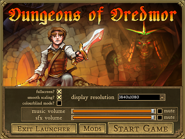 Dungeons of Dredmor launched through Steam for Linux on Slackware