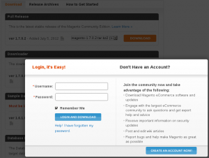 Magento Download website