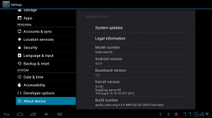 Screenshot of Android Device