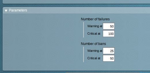 Check MK WATO Fail2ban parameters