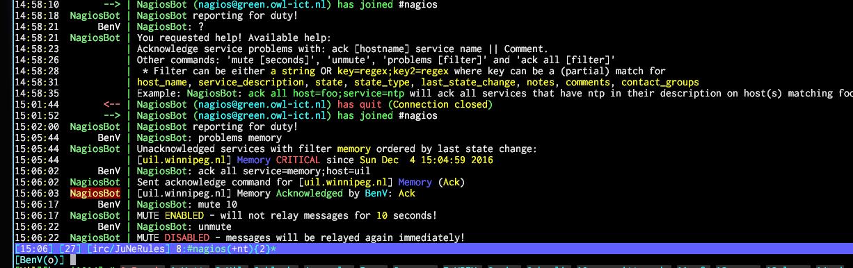 IRC_Notifications NagiosBot v1.3